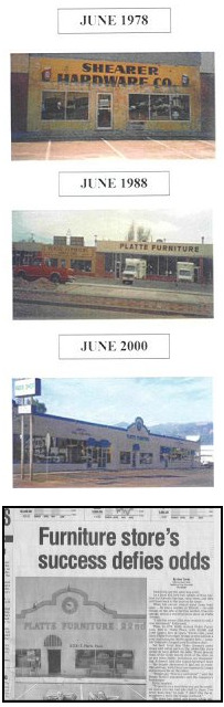 History Timeline of Platte Furniture